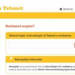 Telenet.be webmail wachtwoord herstel scherm