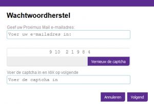 Proximus wachtwoord vergeten?