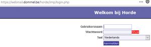 Dommel webmail inloggen